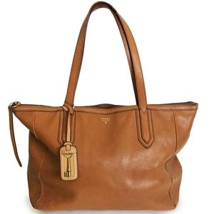 Fossil Sydney Shopper Tote Bag ZB5487 Tan Leather